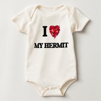 Amo a mi ermitaño trajes de bebé