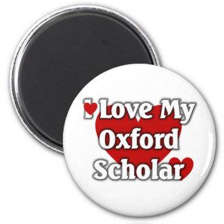 Amo a mi escolar de Oxford Imán De Frigorífico