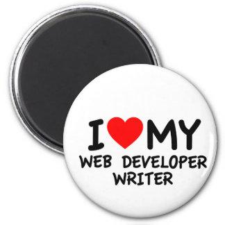 Amo a mi escritor del desarrollador de Web Imán Para Frigorífico