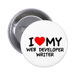 Amo a mi escritor del desarrollador de Web Pins
