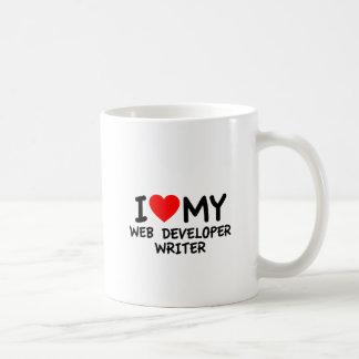 Amo a mi escritor del desarrollador de Web Taza Clásica