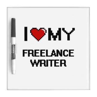 Amo a mi escritor free lance pizarras blancas