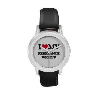 Amo a mi escritor free lance reloj de mano