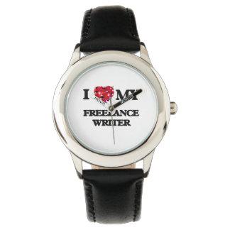Amo a mi escritor free lance relojes de pulsera