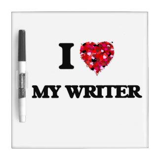 Amo a mi escritor tableros blancos
