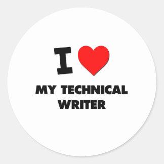 Amo a mi escritor técnico etiquetas