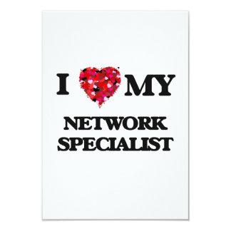 """Amo a mi especialista de la red invitación 3.5"""" x 5"""""""