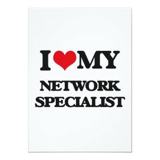 """Amo a mi especialista de la red invitación 5"""" x 7"""""""