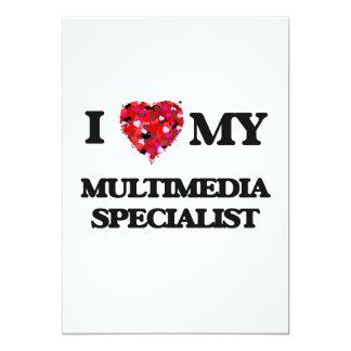 """Amo a mi especialista de las multimedias invitación 5"""" x 7"""""""