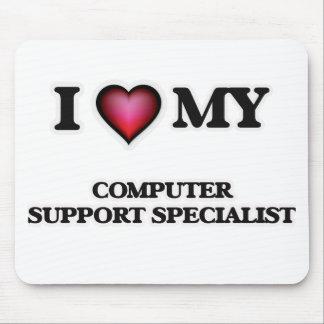 Amo a mi especialista del soporte informático alfombrillas de ratón