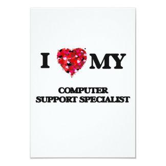 """Amo a mi especialista del soporte informático invitación 3.5"""" x 5"""""""