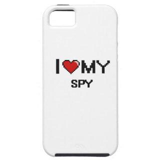 Amo a mi espía iPhone 5 carcasas