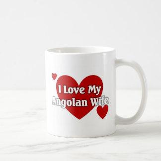Amo a mi esposa angolana taza clásica