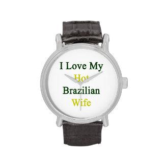 Amo a mi esposa brasileña caliente relojes de pulsera