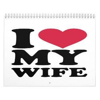 Amo a mi esposa calendario