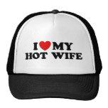 Amo a mi esposa caliente gorras de camionero