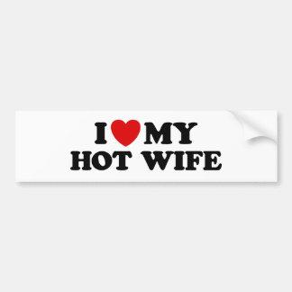Amo a mi esposa caliente pegatina para auto