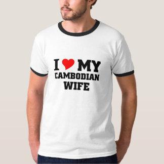 Amo a mi esposa camboyana playeras