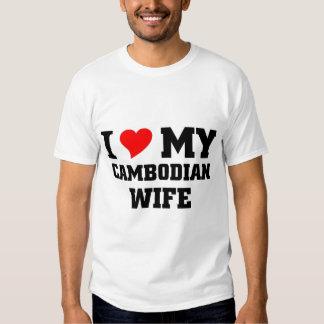 Amo a mi esposa camboyana poleras
