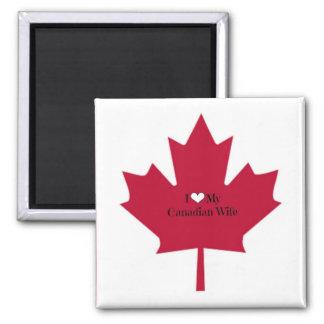 Amo a mi esposa canadiense imanes de nevera