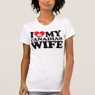 Amo a mi esposa canadiense camisetas