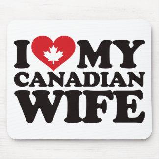 Amo a mi esposa canadiense tapetes de raton