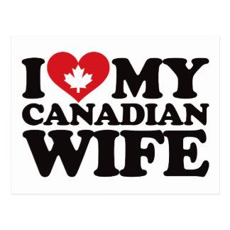 Amo a mi esposa canadiense tarjeta postal