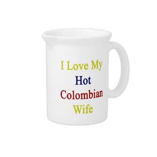 Amo a mi esposa colombiana caliente jarrón