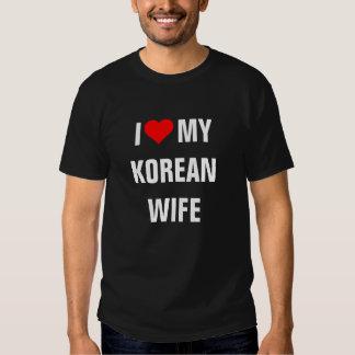 """""""Amo a mi esposa coreana """" Remera"""