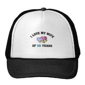 Amo a mi esposa de 24 yeaqrs gorras de camionero