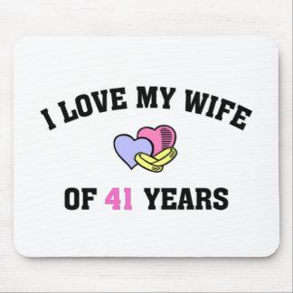 Amo a mi esposa de 41 años mousepad