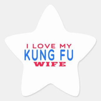 Amo a mi esposa de Kung Fu Calcomanías Forma De Estrellas Personalizadas