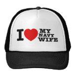 Amo a mi esposa de la marina de guerra gorra
