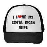 Amo a mi esposa de Rican de la costa Gorro