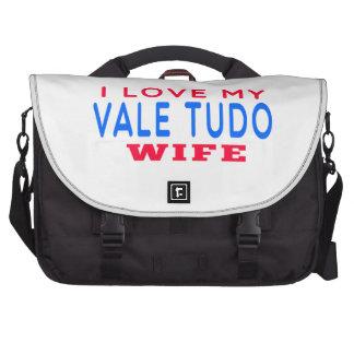 Amo a mi esposa de Tudo del valle Bolsas Para Portatil