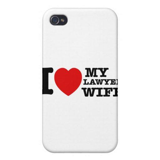 Amo a mi esposa del abogado iPhone 4/4S carcasa