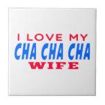 Amo a mi esposa del cha del cha de Cha Teja Ceramica