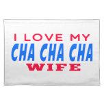 Amo a mi esposa del cha del cha de Cha Mantel