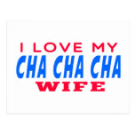 Amo a mi esposa del cha del cha de Cha Postal