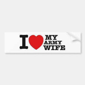 Amo a mi esposa del ejército pegatina para auto