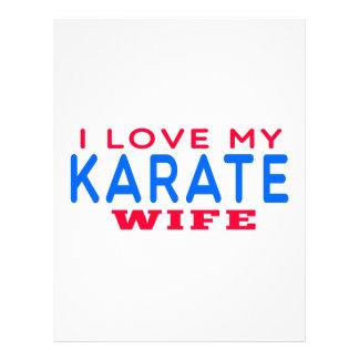 Amo a mi esposa del karate membrete