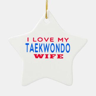 Amo a mi esposa del Taekwondo Adorno De Cerámica En Forma De Estrella