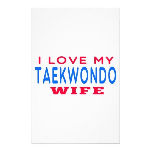 Amo a mi esposa del Taekwondo Papeleria De Diseño
