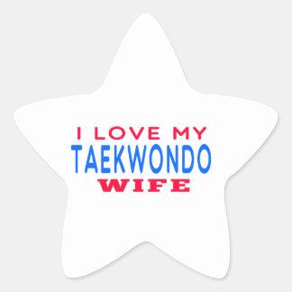 Amo a mi esposa del Taekwondo Pegatina En Forma De Estrella
