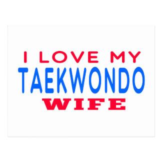 Amo a mi esposa del Taekwondo Tarjetas Postales