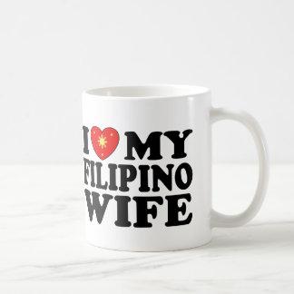 Amo a mi esposa filipina taza
