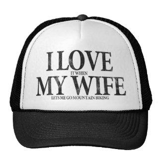 Amo a mi esposa gorras