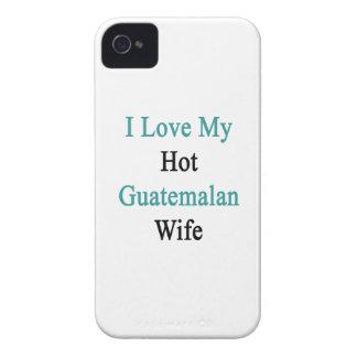 Amo a mi esposa guatemalteca caliente Case-Mate iPhone 4 cárcasa