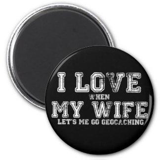 ¡Amo a mi esposa! Imán Redondo 5 Cm