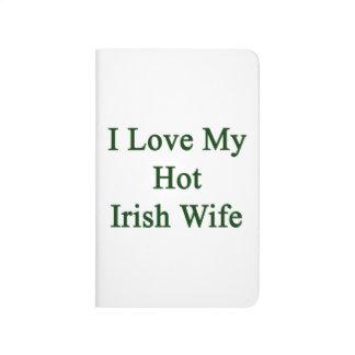 Amo a mi esposa irlandesa caliente cuaderno
